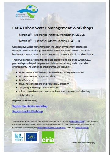 CaBA uban workshops poster